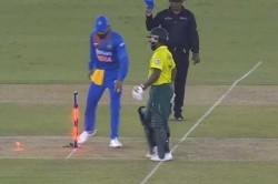 Virat Kohli Shatters Stumps In Anger During 2nd T20i Against South Africa In Mohali