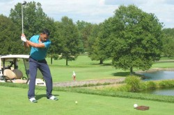 Ms Dhoni Plays First Golf Tournament In American Club On September
