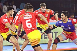Pkl 2019 Up Yoddha Move Up To Fifth Spot After Beat Gujarat Fortunegiants