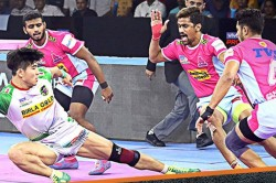 Pkl 2019 Patna Pirates Outplay Jaipur Pink Panthers Through Pardeep Narwal And Jang Kun Lee