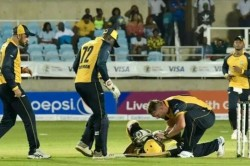 Cpl 2019 Andre Russell Stretchered Off Rushed To Hospital After He Getting Hit On Head