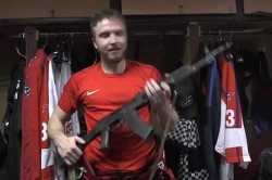 Russian Hockey Goalkeeper Gifted Ak 47 Assault Rifle After Putting In Man Of The Match Performance