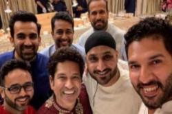 Indian Cricketers Attending The Ganesh Chaturthi Celebrations At Mukesh Ambani Residenc