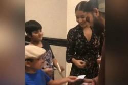 Anushka Sharma Smiles As Virat Kohli Takes Autograph Of 7 Year Old Fan