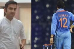 Gautam Gambhir Urges Bcci To Retire Jersey No 12 As Tribute To Yuvarajsingh