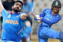 Jasprit Bumrah Smriti Mandhana Win Wisden India Almanack Cricketer Of The Year Award