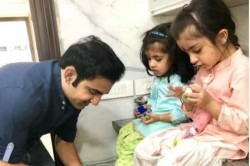 Gambhir Seeks Daughters Blessings On Ashtami Kanjak