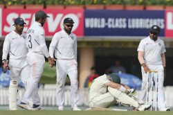India Vs South Africa Live Score 3rd Test Day 3 Dean Elgar Hit On Helmet