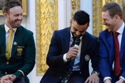 Rivalries Stay On The Field Virat Kohli Posts A Throwback Picture With Ab De Villiers And Eoin