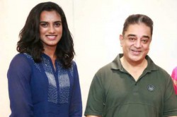 Badminton Champion Pv Sindhu Meets Kamal Haasan At His Mnm Office