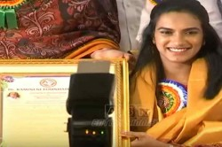 Pv Sindhu Felicitated With Ramineni Foundation Award In Hyderabd