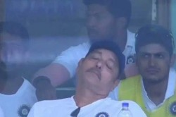 India Vs South Africa Ravi Shastri Sleeping During 3rd Test Match Photos Viral In Social Media