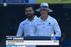 India Vs South Africa 1st Test Day 3 Rohit Sharma Bowling Against South Africa