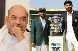 India Vs Bangladesh Amit Shah To Attend India S Day Night Test At Eden Gardens