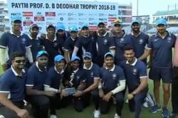 Deodhar Trophy Final India B Ride On Kedar Jadhav Shahbaz Nadeem Show To Beat India C