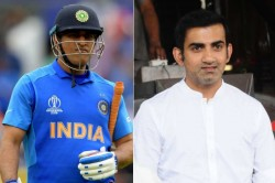 Gautam Gambhir Blames Ms Dhoni S Reminder For Missed Century In 2011 World Cup Final