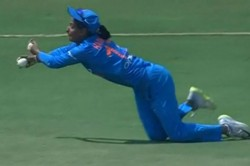 Watch Harmanpreet Kaur Jaw Dropping Catch Against West Indies Will Stun You Into Silence