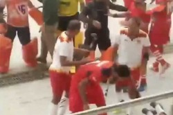 Nehru Cup Finals Brawl Breaks Out Between Teams During Hockey Match Watch