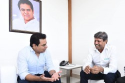 Kapil Dev Meets Ktr In Hyderabad
