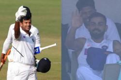 Watch Mayank Agarwal Scores Double Ton Virat Kohli Signals To Go For