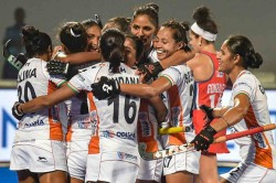 Hockey Women S Olympic Qualifiers India Thrashes Usa 5