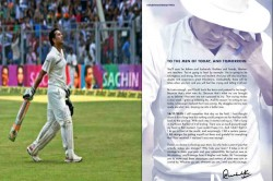 Sachin Tendulkar Pens An Open Letter To The Men Of Today And Tomorrow