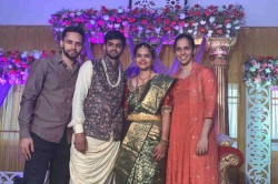 Sai Praneeth Gets Engaged Saina Nehwal And Parupalli Kashyap Attend Ceremony