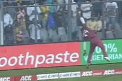 India Vs West Indies 3rd T20i Evin Lewis Unbelievable Effort Denies Rohit Sharma Of Six
