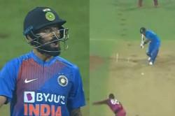 India Vs West Indies 3rd T20i Virat Kohli Smashes Kesrick Williams For Six Gives Animated Reaction