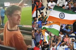 Watch Viral Video New Zealand Fan Chants Bharat Mata Ki Jai During 3rd T20i