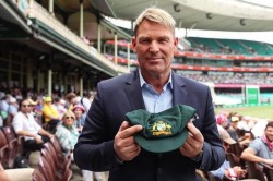 Hope My Baggy Green Can Raise Some Significant Funds Shane Warner Auctioning Test Cap