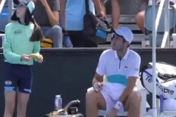 Australian Open Tennis Player Asks Ball Girl To Peel Banana For Him Gets Scolded By Umpire Watch