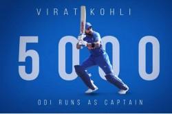 Virat Kohli Completes 5 000 Runs As Odi Captain