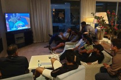 Bcci Shares Picture Of Shastri Jadeja Watching Ind Vs Ban U19 World Cup Final