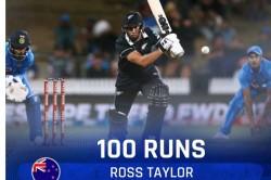 India Vs New Zealand 1st Odi Ross Taylor Hundred Puts New Zealand In Sight Of Win
