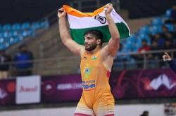 Sunil Kumar Wins Gold In 87 Kg Greco Roman Category In Asian Wrestling Championships