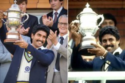 Ranveer Singh Recreates Iconic Moment When Kapil Dev Lifted The 1983 World Cup Trophy