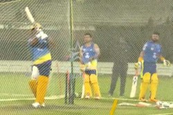 Csk Captain Ms Dhoni Lights Up Chepauk Ahead Of Ipl
