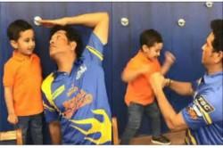 Irfan Pathan S Son S Boxing Match With Sachin Tendulkar