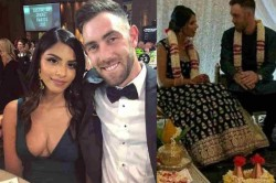 Glenn Maxwell S Fianc E Vini Raman Posts Pictures From Their Indian Style Engagement