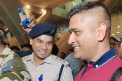 Ms Dhoni Flaunts His New Hairstyle Ahead Of Ipl 2020 As He Lands In Chennai