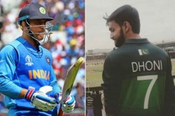 Ms Dhoni Fever Takes Over Psl As Islamabad United Supporter Dons Pakistan Jersey With Mahi Name