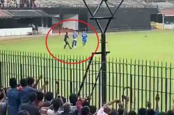 Watch Fan Breaches Security To Meet Ms Dhoni In Chepauk Stadium