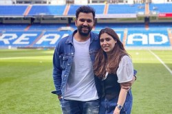 Rohit Sharma Gives Sneak Peek Of His Surreal Experience With Family At Real Madrids Stadium
