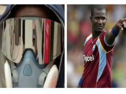 Darren Sammy Sports Unique Mask At Home Under Self Quarantine