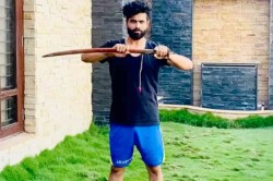 Michael Vaughan Ravindra Jadeja In Funny Banter After India Star Sword Wielding Video