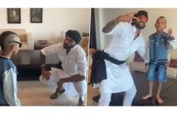 Shikhar Dhawan Shakes Leg With Son Zoravar On Popular Bollywood Song