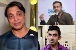Shoaib Akhtar Says Virender Sehwag Gautam Gambhir Don T Know How To Speak In Public