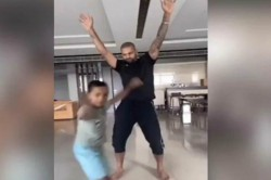Like Father Like Son Shikhar Dhawan S Dance Video With Son
