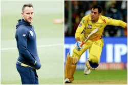 Faf Du Plessis Says Ms Dhoni S Incredible Gut Feeling Is His Biggest Strength